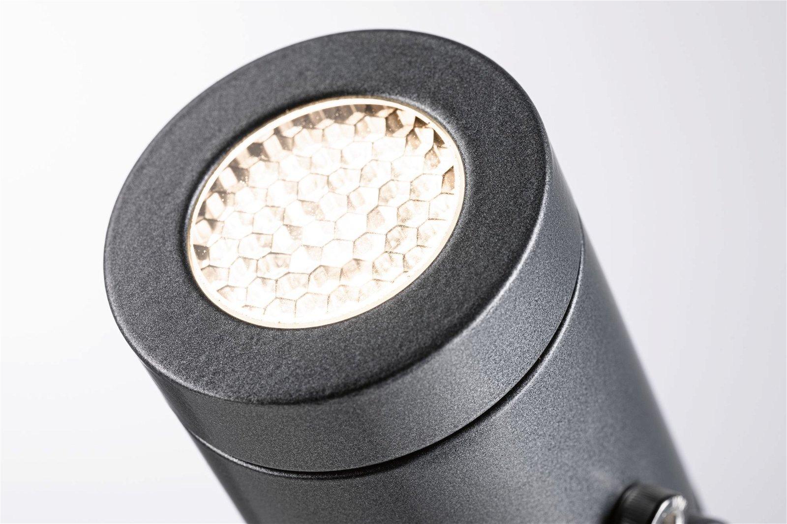 LED Gartenstrahler Radix IP65 56mm 3000K 5,5W 550lm 230V Grau Aluminium
