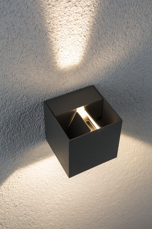 Special Line Applique d'extérieur LED Cybo IP65 carré 80x80mm 2700K 2x3,5W 2x355lm 230V Gris Alu