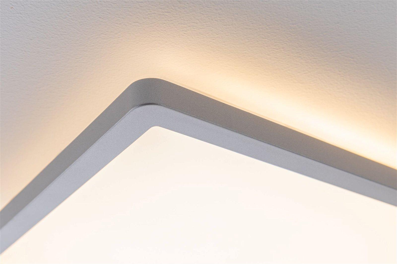 Panneau LED Atria Shine carré 190x190mm 1360lm 3000K Chrome mat