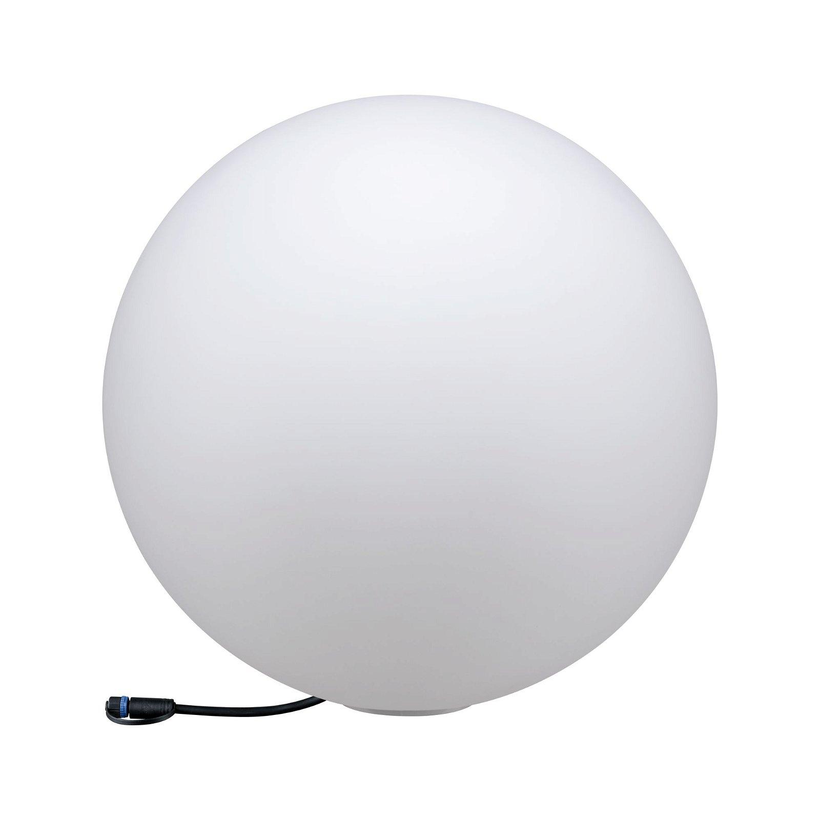 Plug & Shine Objet lumineux LED Globe 500mm IP67 3000K 6,5W Blanc