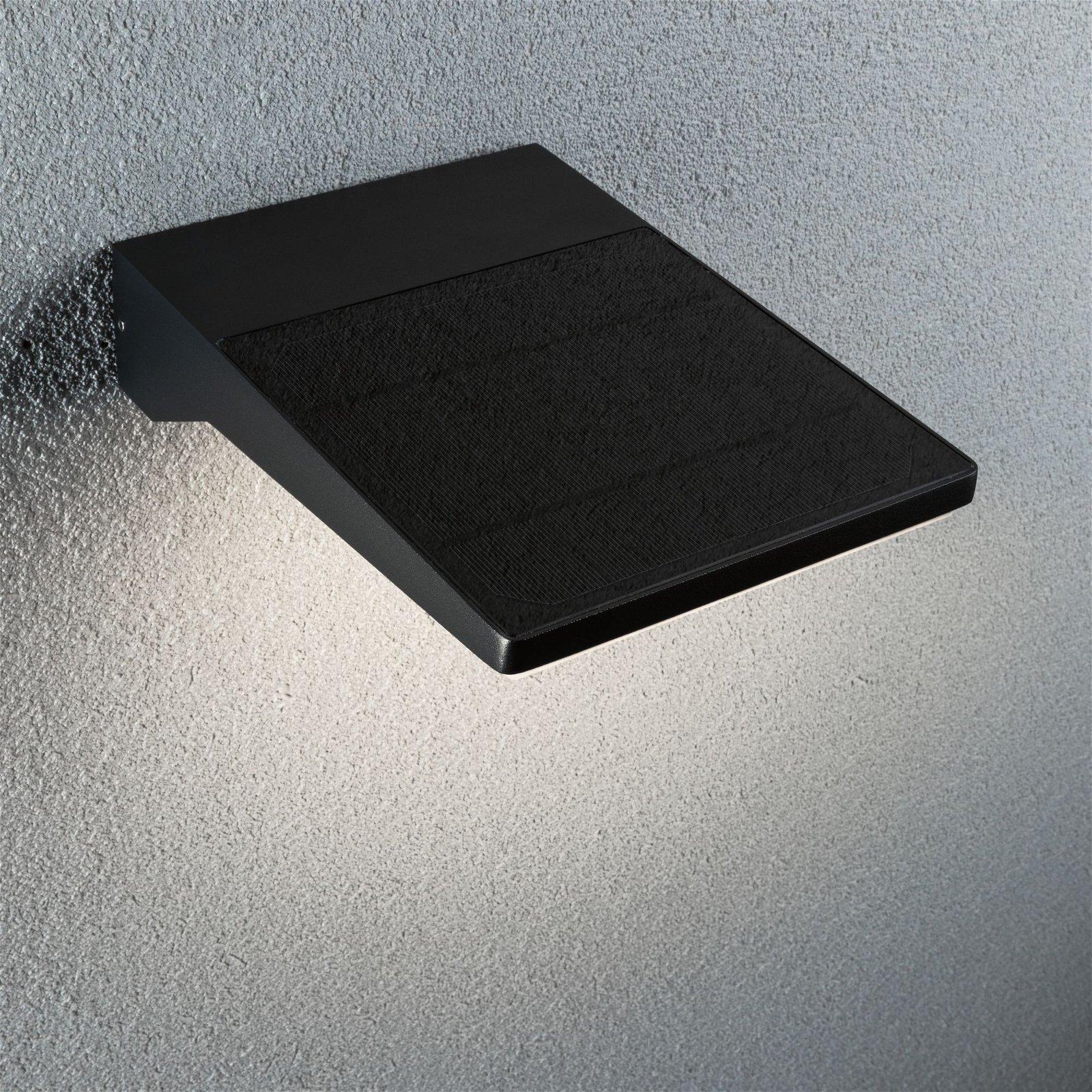 Solar LED Außenwandleuchte Ronas IP44 3000K 550lm Dunkelgrau