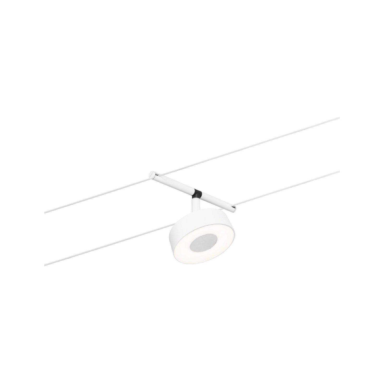 LED Seilsystem Circle Einzelspot 400lm 5W 3000K 12V Weiß matt/Chrom