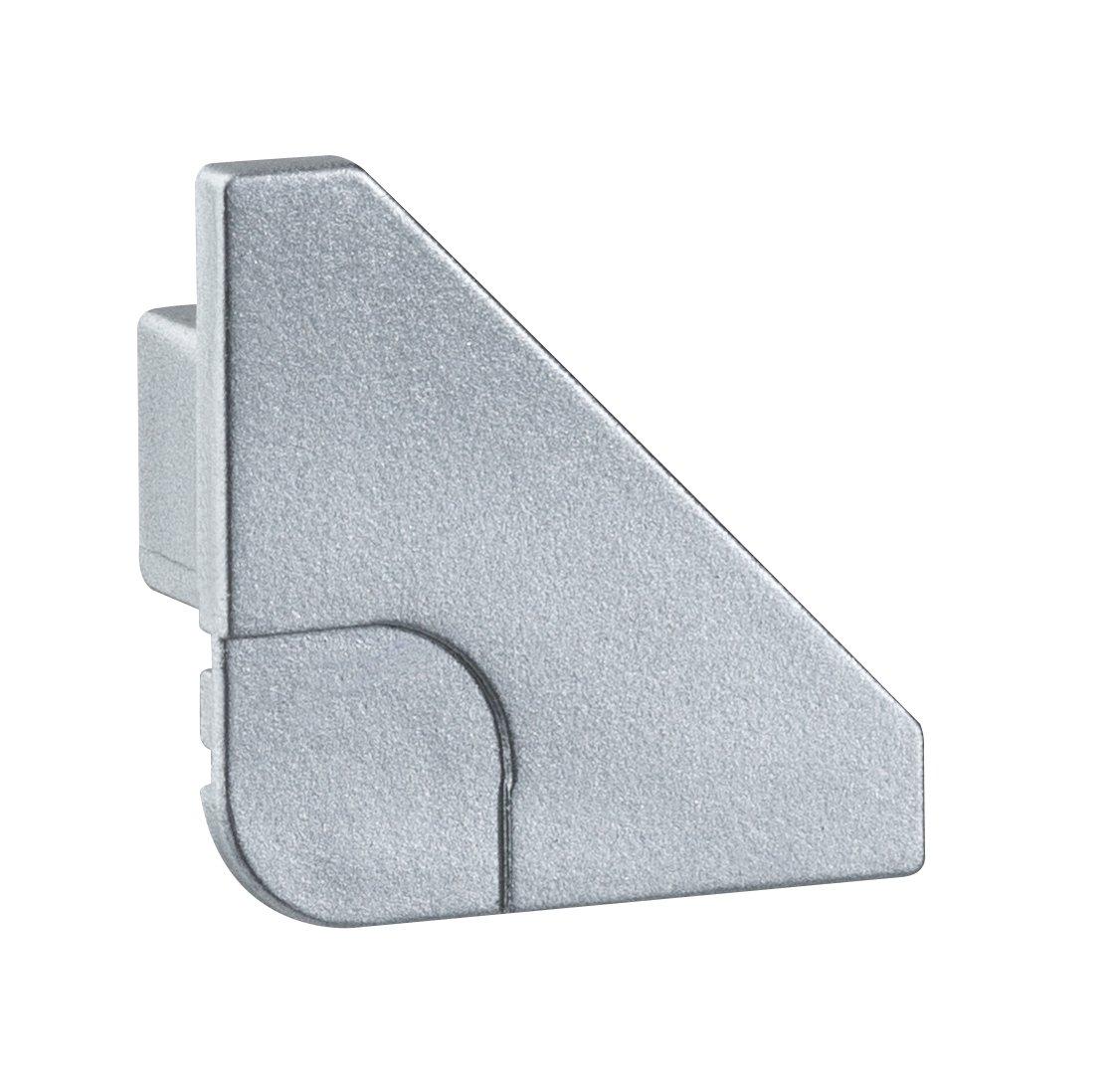 Profilé de strip LED Delta End Cap – Pack de 2 Alu mat