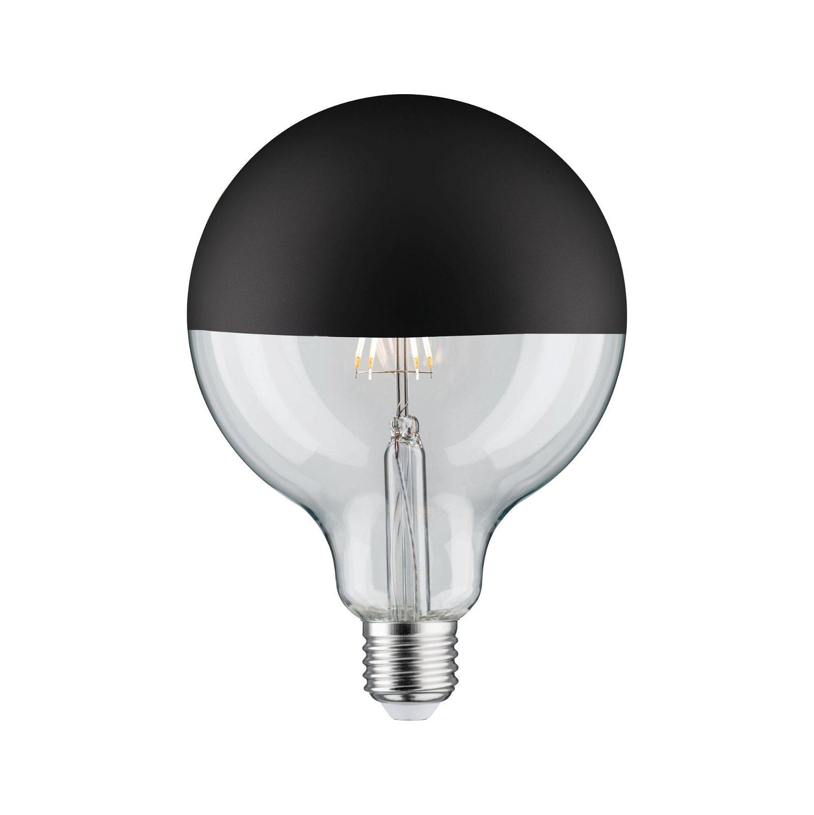 Modern Classic Edition LED Globe Kopfspiegel E27 230V 600lm 6,5W 2700K Kopfspiegel Schwarz matt
