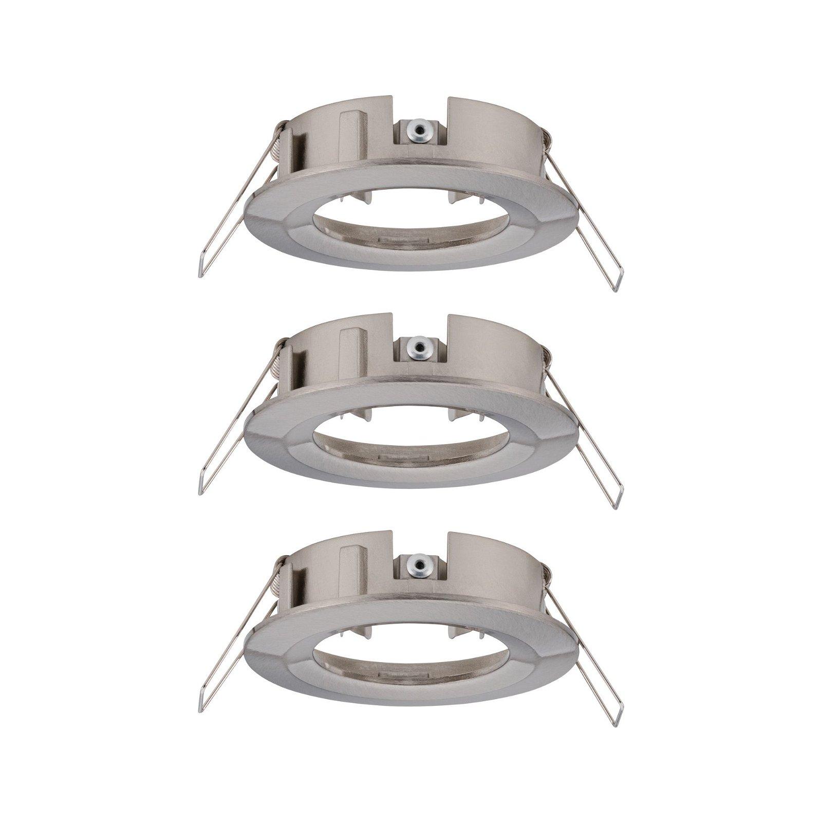 LED Einbauleuchte Choose Basisset starr IP44 rund 78mm max. 3x10W Eisen gebürstet