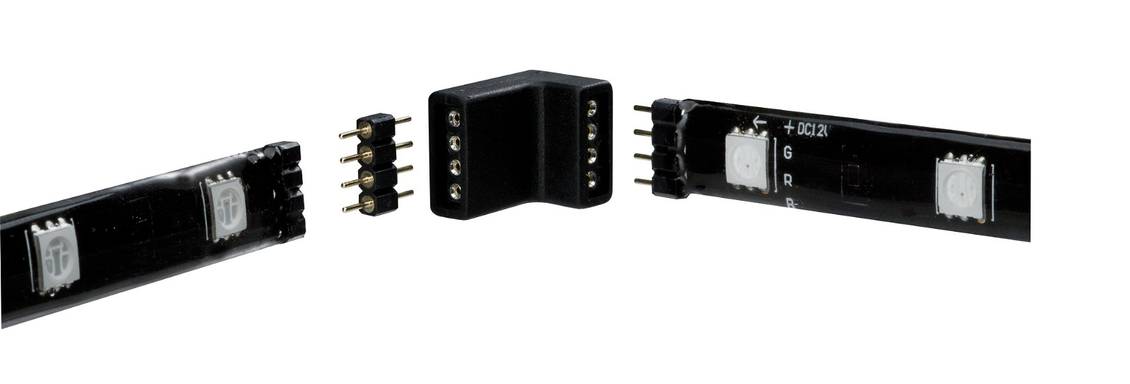 YourLED Connector Corner piece 17x13mm max. 60W White/Black