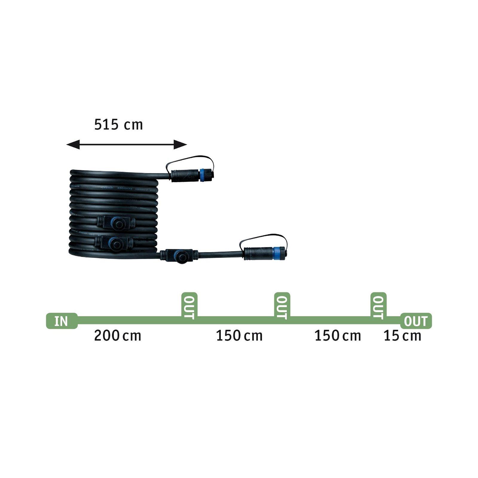 Plug & Shine LED Gartenstrahler Sting Erweiterungsset IP67 3000K 3x6W Anthrazit