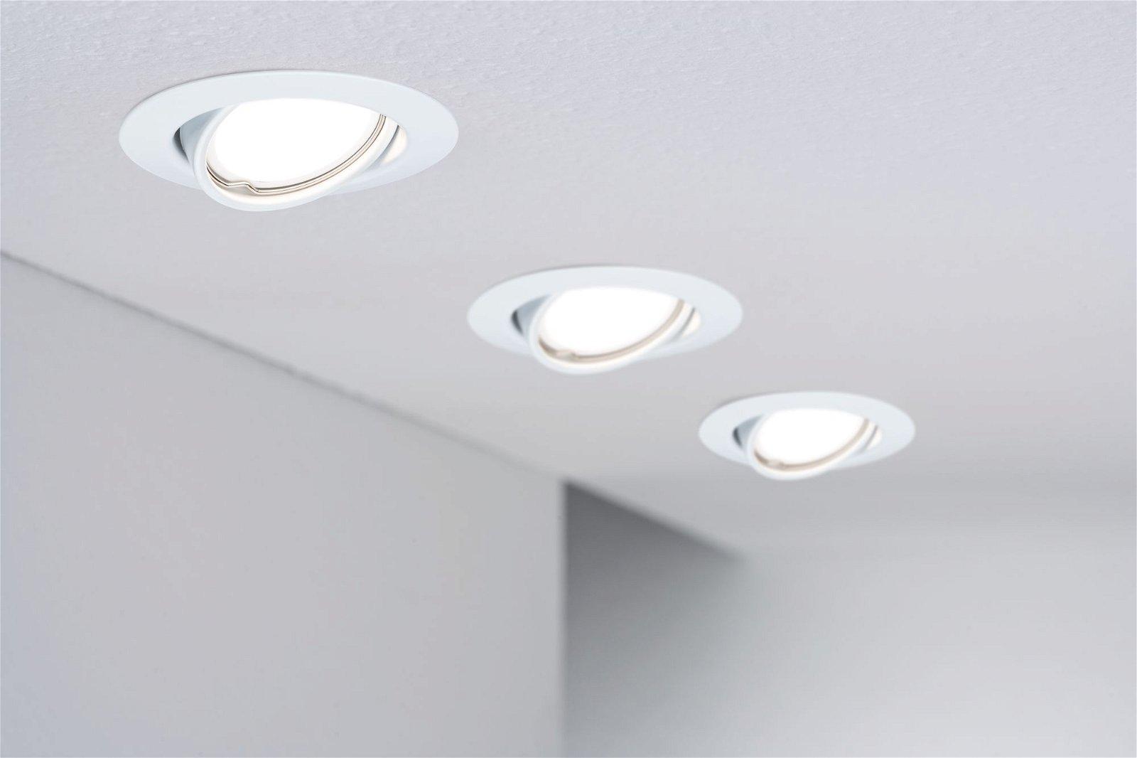 LED Einbauleuchte Base Coin Einzelleuchte schwenkbar rund 90mm 20° Coin 5W 350lm 230V 3000K Weiß