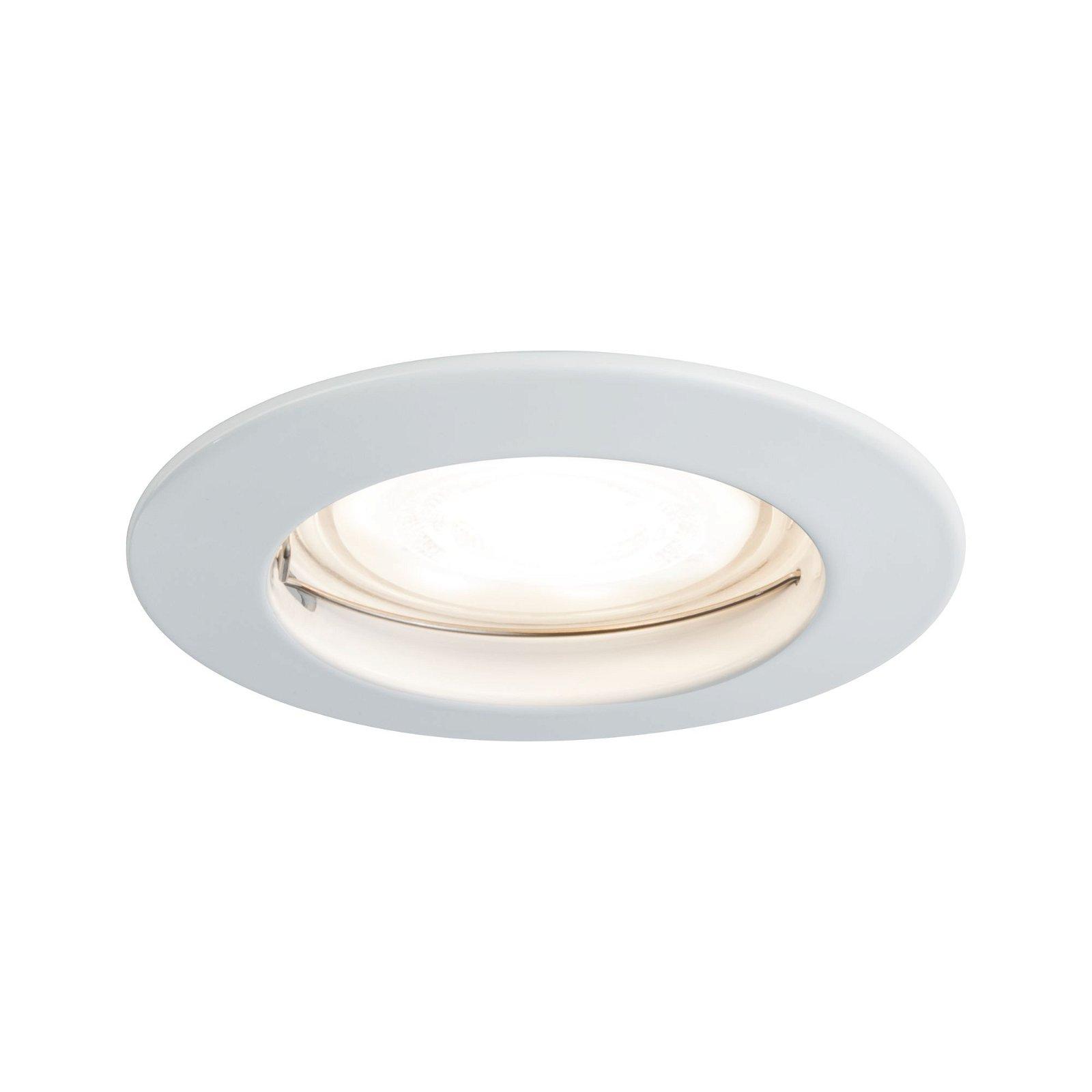 Premium Spot encastré LED IP44 rond 79mm GU10 max. 50W 230V Blanc