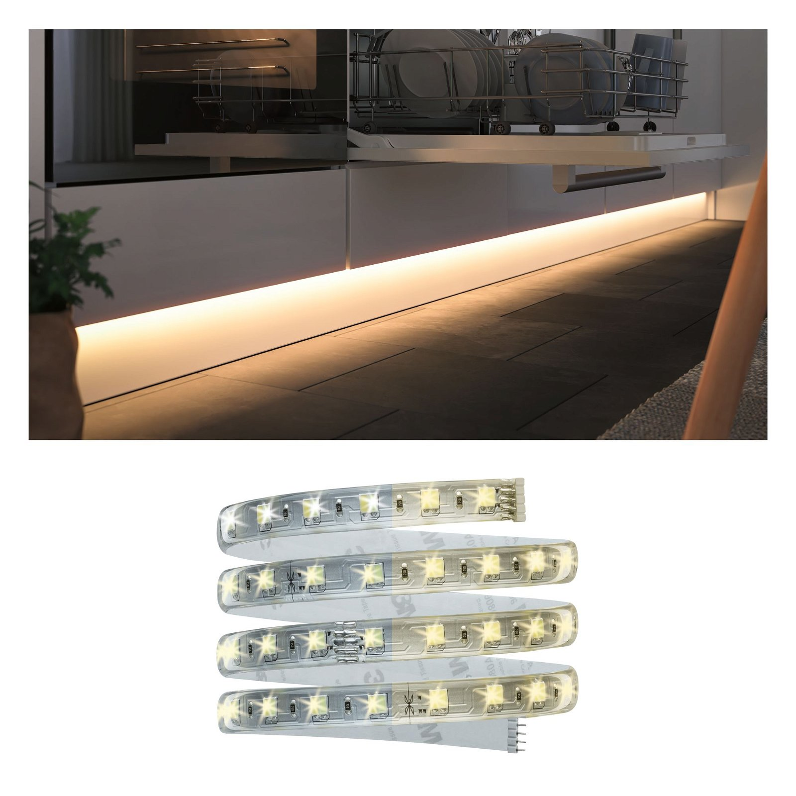 Clever Connect LED Strip Tunable White 6,5W Transparent
