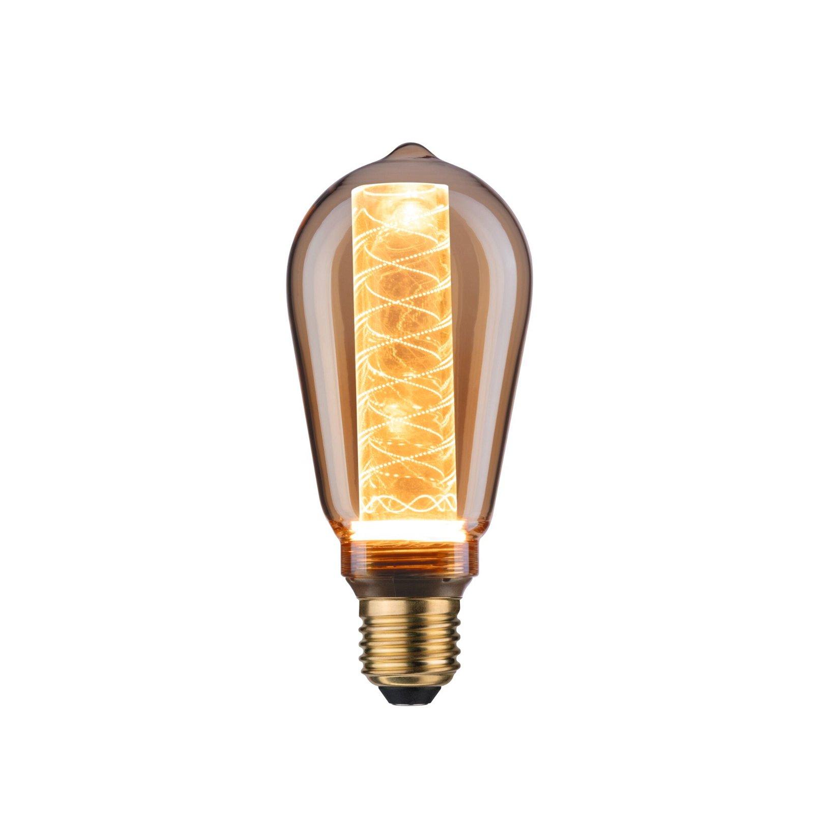 Inner Glow Edition LED Corn Internal corn spiral pattern E27 230V 200lm 4W 1800K Gold