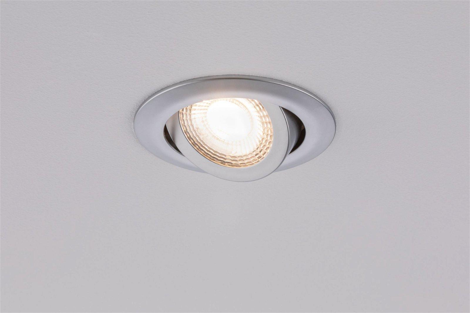 LED Einbauleuchte schwenkbar rund 82mm 70° 3x6W 3x550lm 230V 3000K Chrom matt
