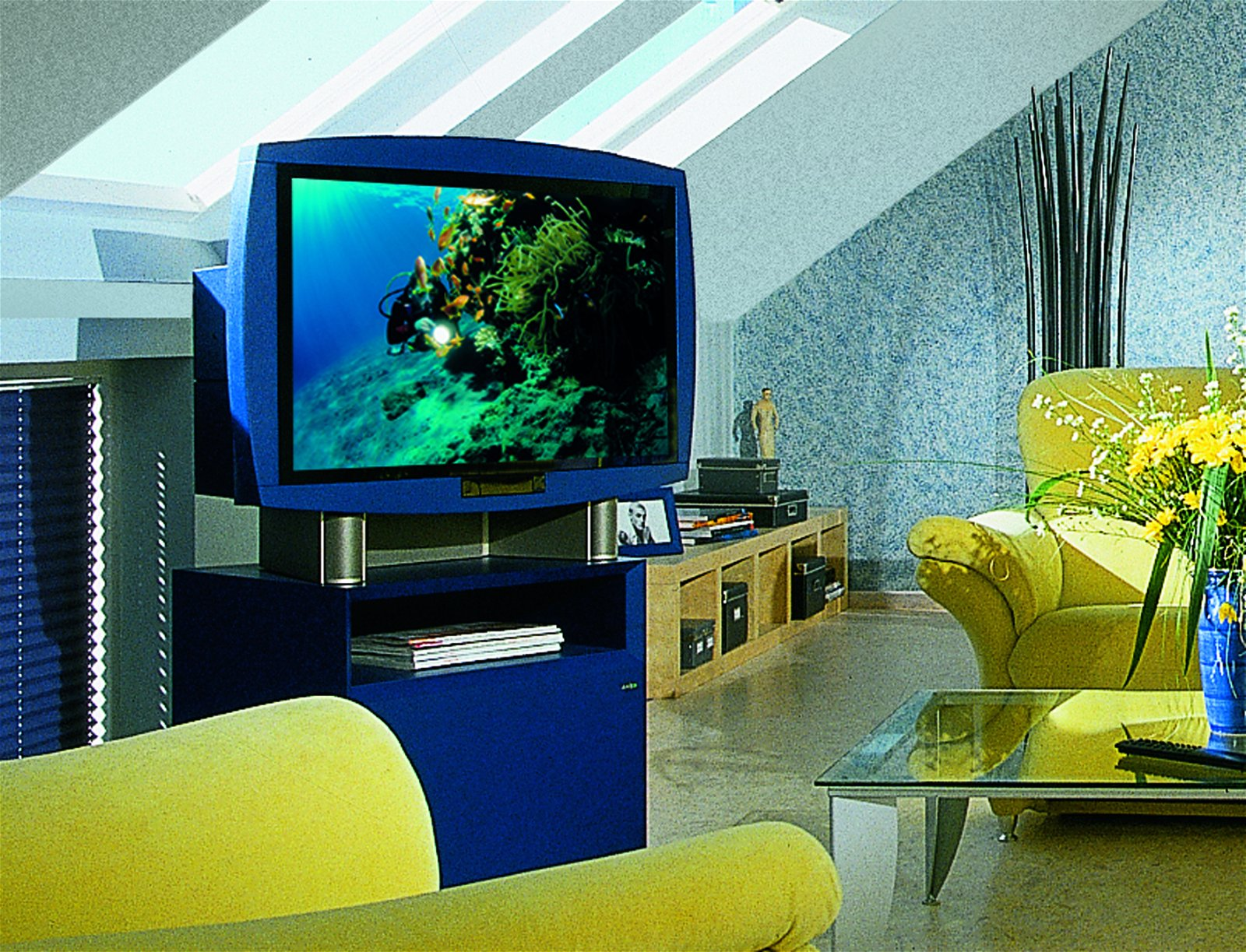 Glühbirne E14 230V 20lm 15W TV - Blau