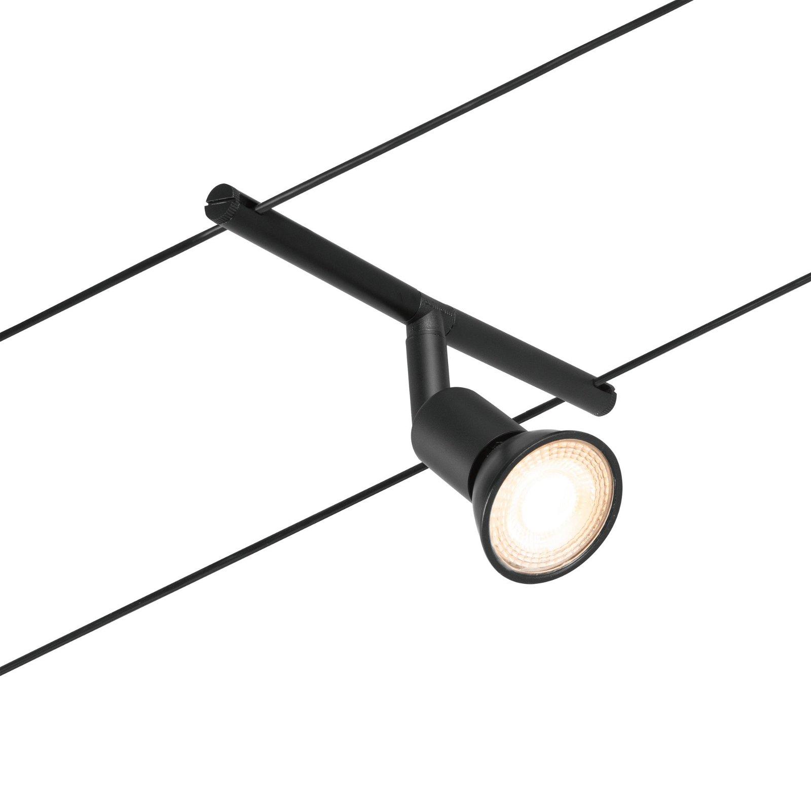 Kabelsysteem Salt Basisset GU5,3 max. 5x10W 230/12V Zwart mat/Chroom