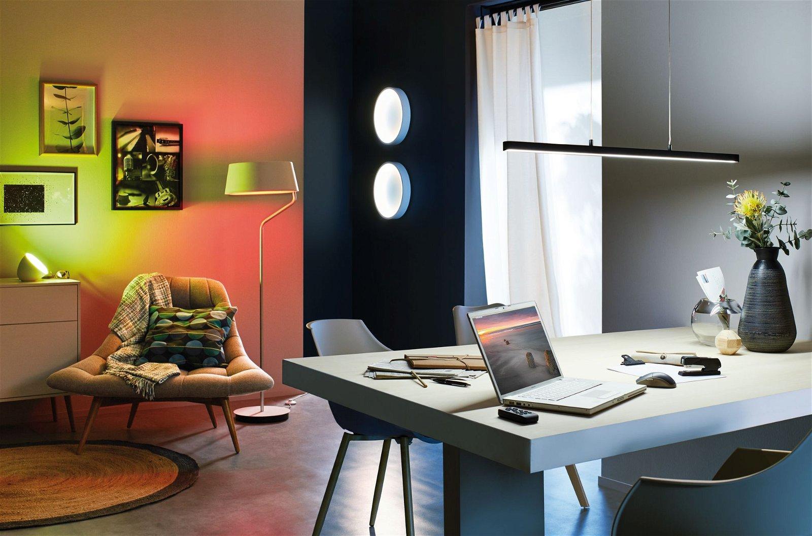 LED Tischleuchte Cornus RGBW 641lm 12W Weiß