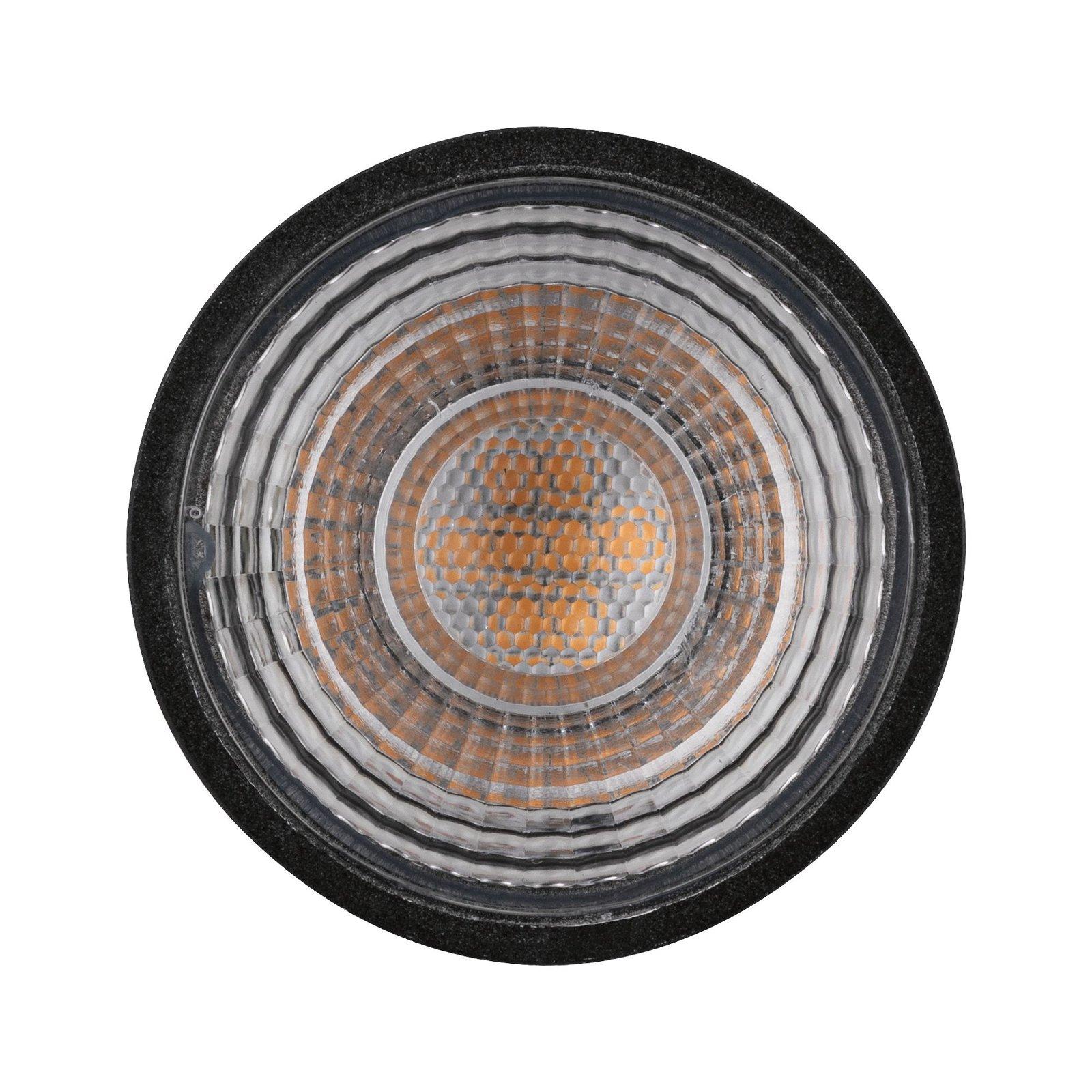 LED Reflektor GU10 230V 460lm 7W 2700K Schwarz matt