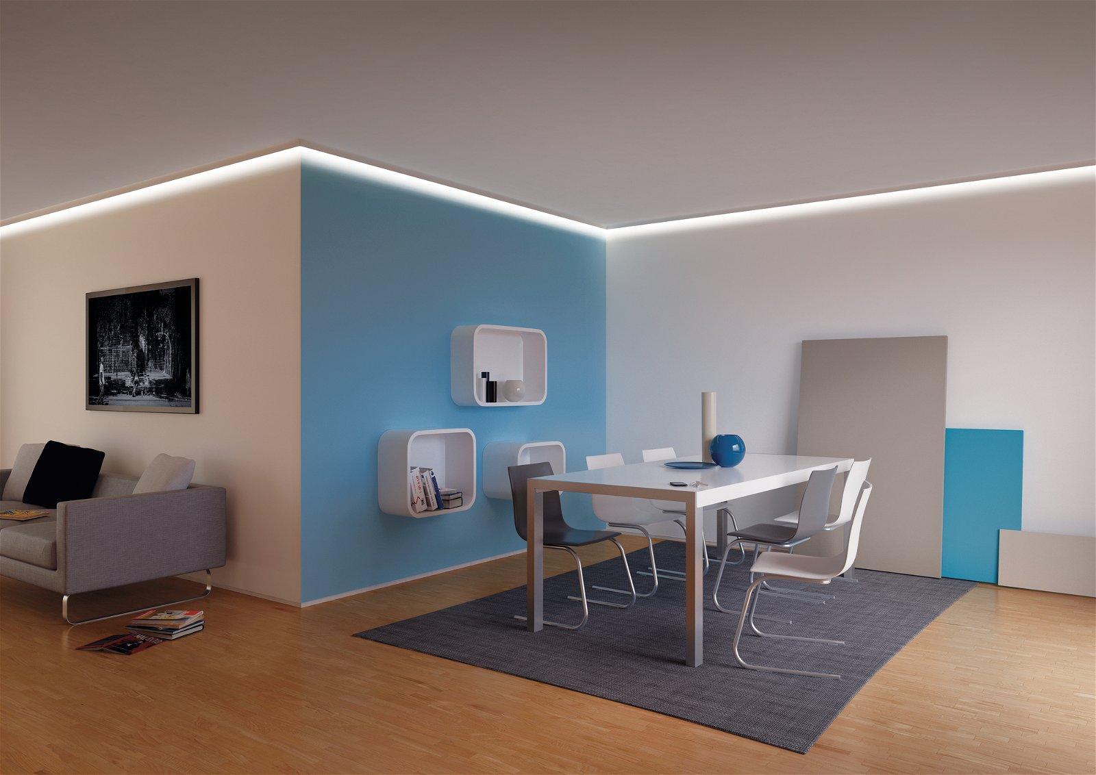 LED Strip profiel Corner 1m Grijs