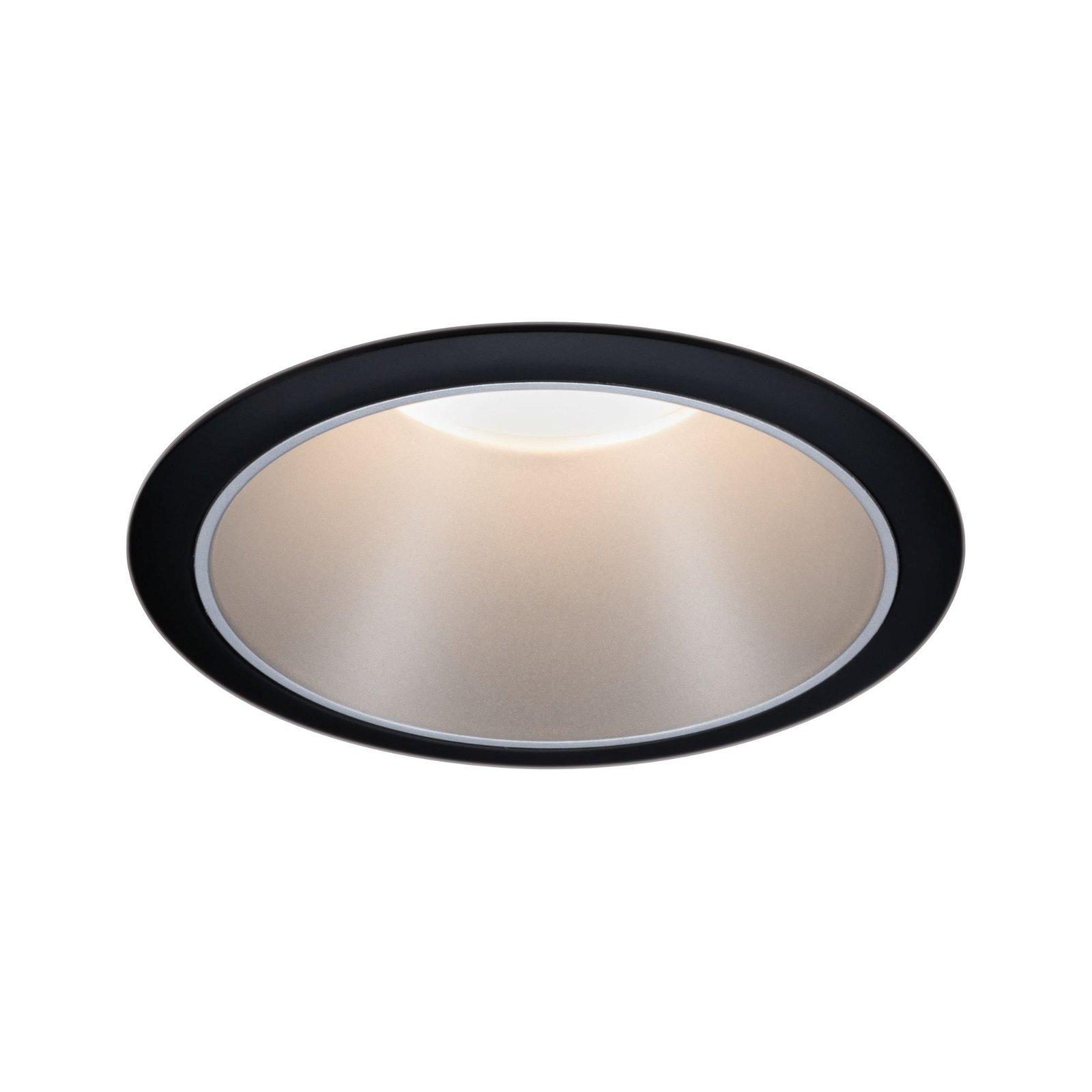 LED Einbauleuchte Cole rund 88mm GU10 max. 10W 230V Schwarz matt/Silber