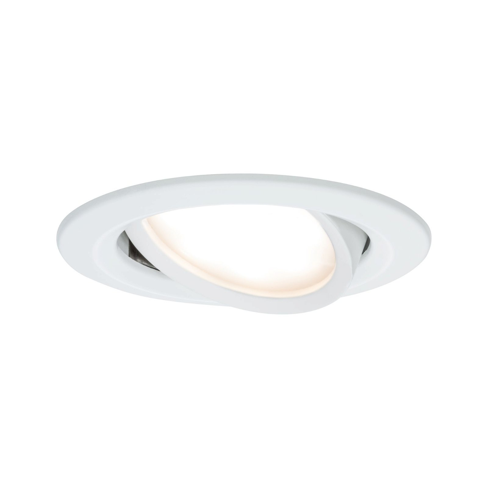 LED Einbauleuchte Nova Plus Coin schwenkbar rund 84mm 50° Coin 6,8W 425lm 230V 2700K Weiß matt