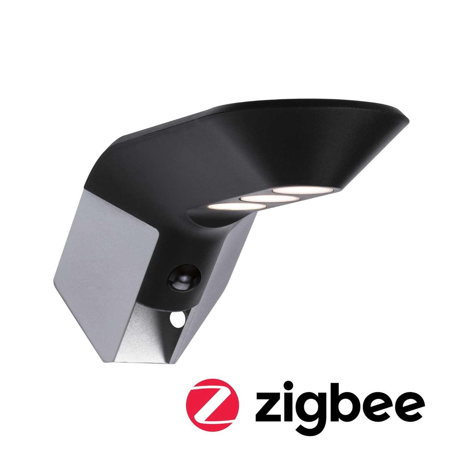 Solar LED Hausnummernleuchte Smart Home Zigbee Soley Bewegungsmelder IP44 3000K 115lm Anthrazit