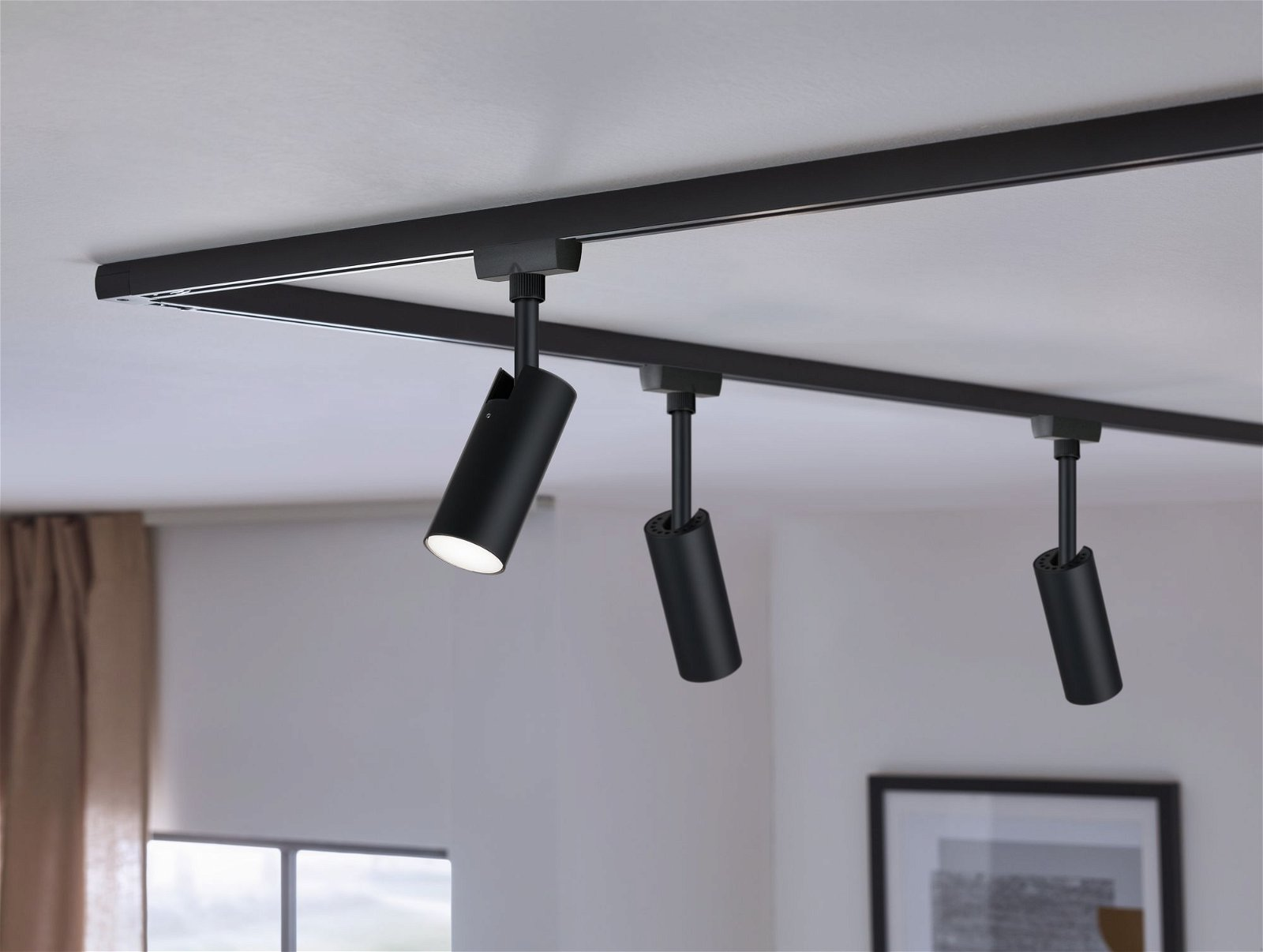 URail LED Schienenspot Tubo Einzelleuchte 540lm 4,5W 4000K 230V Schwarz matt/Chrom