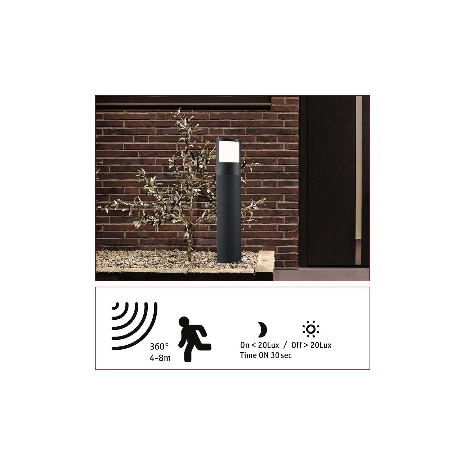 LED Pollerleuchte Padea Dämmerungssensor und Bewegungsmelder Bewegungsmelder Warmweiß IP44 847mm 3000K 8,5W 1200lm 230V Anthrazit Kunststoff