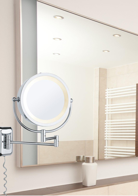 LED Kosmetikspiegel Bela Ohne Leuchtmittel E14 230V max. 40W Chrom/Spiegel