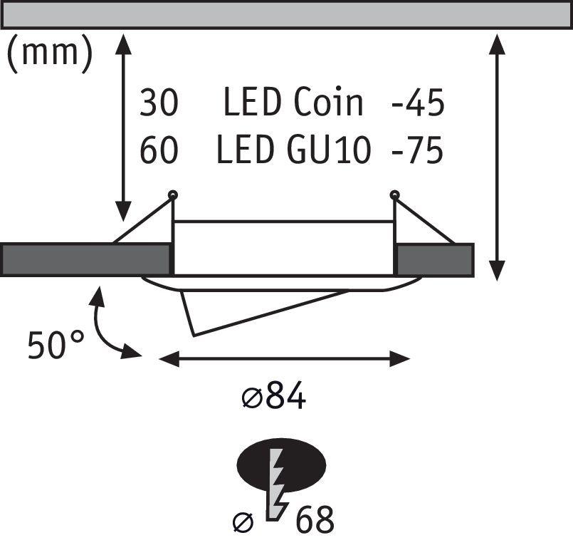 LED Einbauleuchte Choose Basisset schwenkbar rund 84mm 50° max. 3x10W Chrom