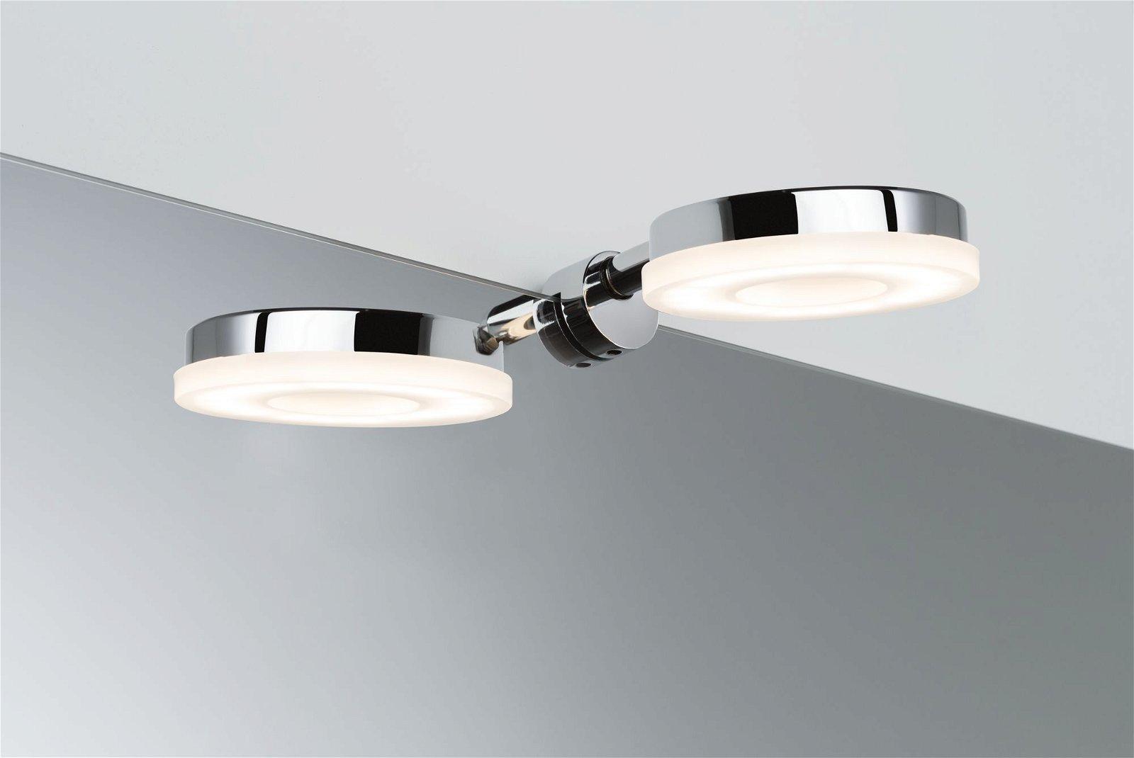 LED Spiegelleuchte Becrux 3000K 460lm 230V 4W Chrom