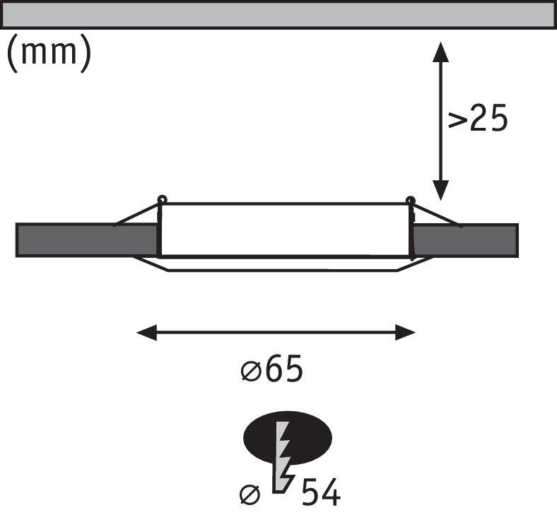 LED Möbeleinbauleuchten Micro Line 3er-Set rund 65mm 3x4,5W 3x305lm 230V 2700K Eisen gebürstet
