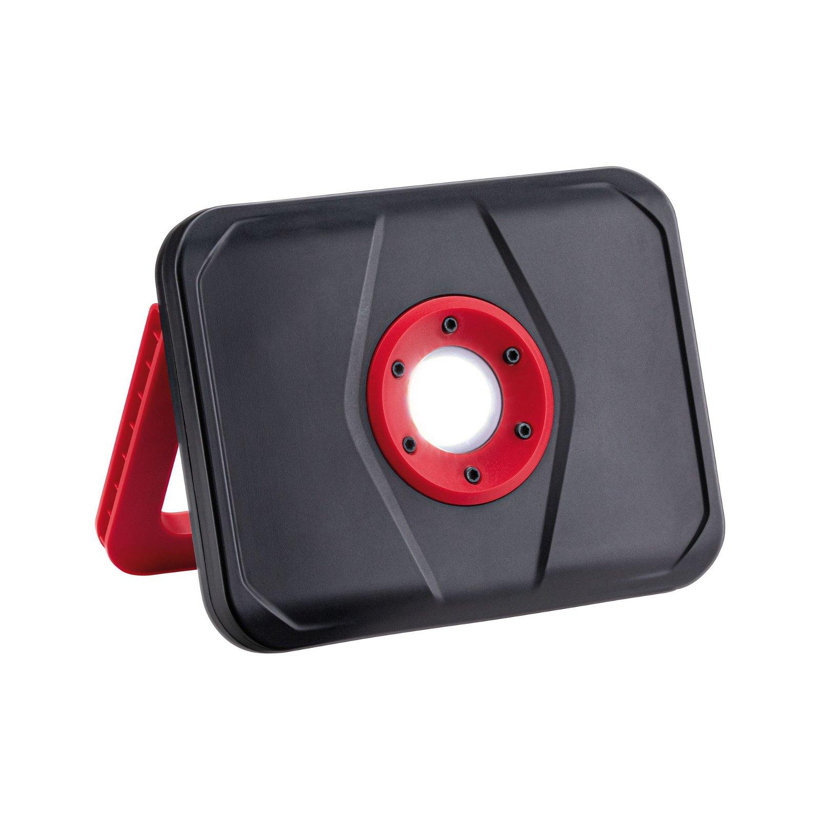 Acculamp Accu Worklight IP65 6500K Zwart/Rood