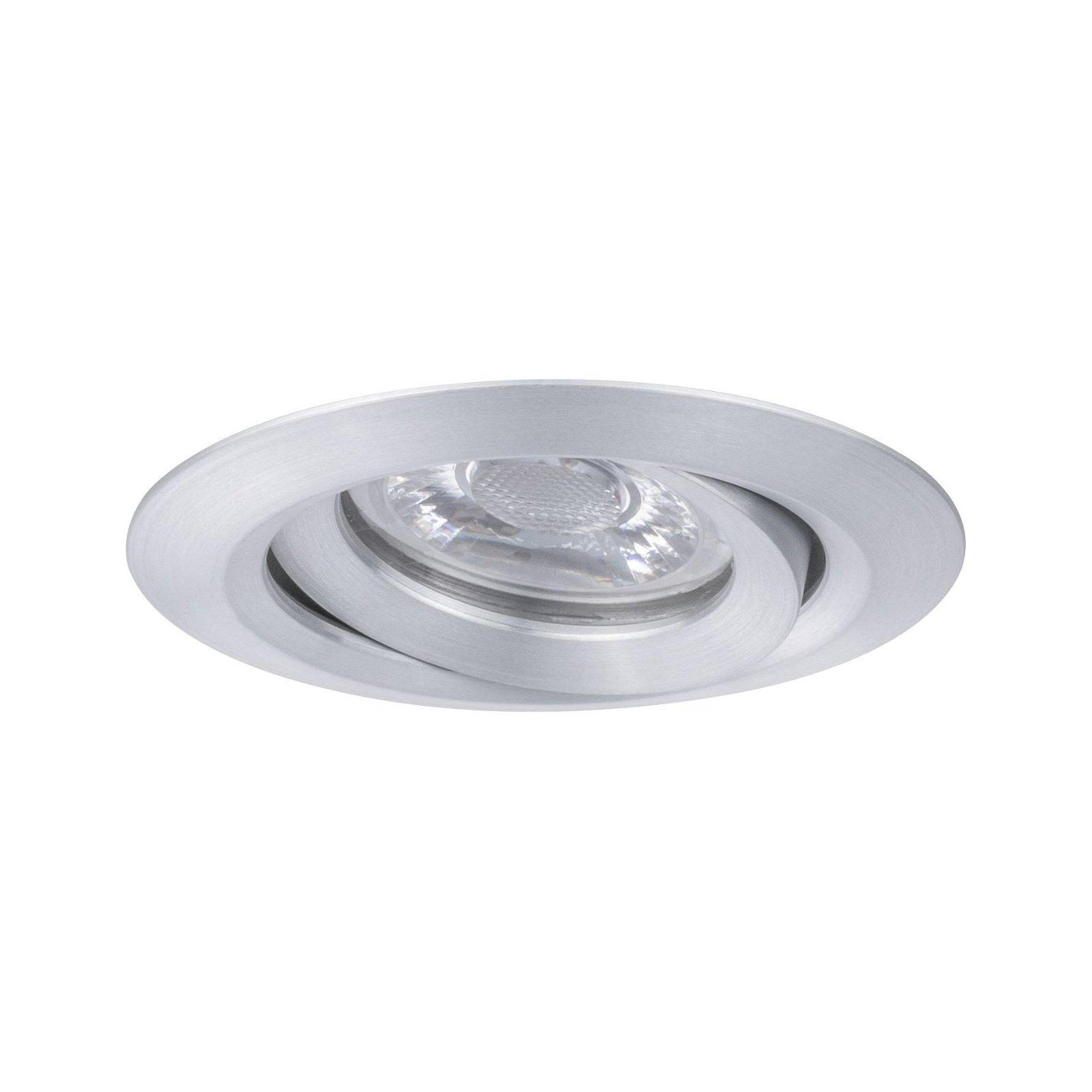 LED Einbauleuchte Nova Mini Coin Einzelleuchte schwenkbar rund 66mm 15° Coin 4W 310lm 230V 2700K Alu gedreht