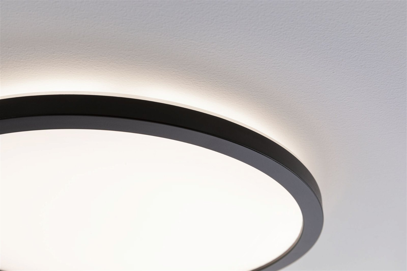 LED Panel Atria Shine rund 190mm 1340lm 3000K Schwarz