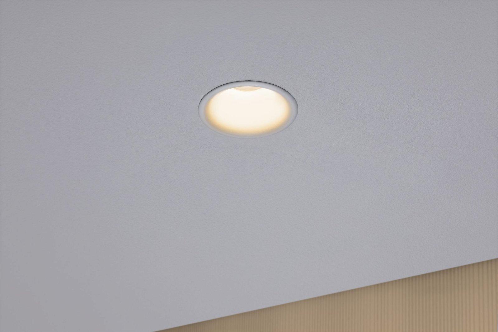 LED Einbauleuchte Cymbal Coin IP44 77mm Coin 6W 430lm 230V 2000 - 2700K Weiß matt