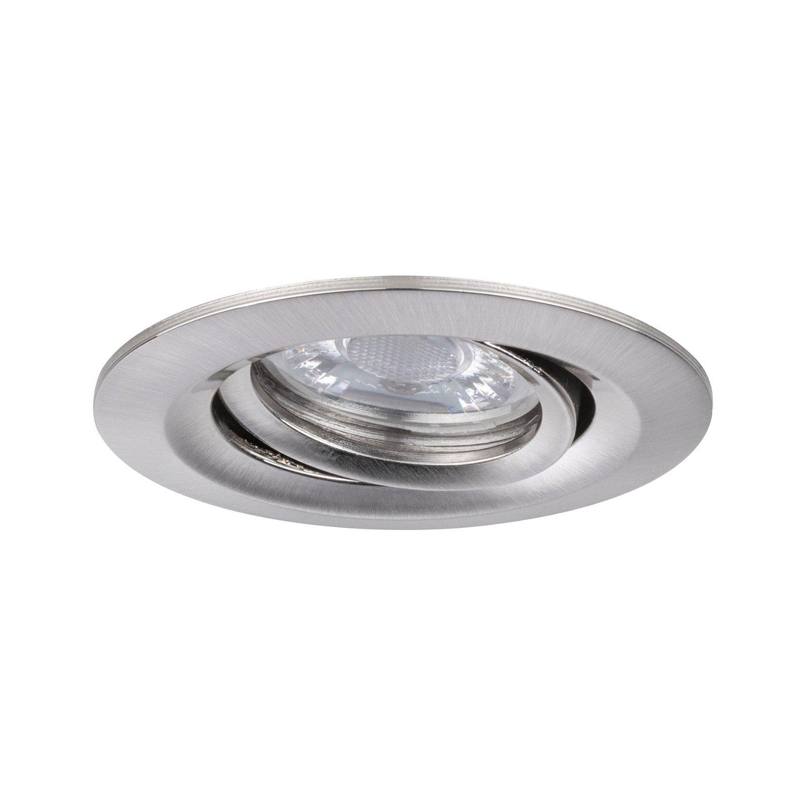 LED Einbauleuchte Easy Dim Nova Mini Plus Coin Einzelleuchte schwenkbar rund 66mm 15° Coin 4,2W 300lm 230V 2700K Eisen gebürstet