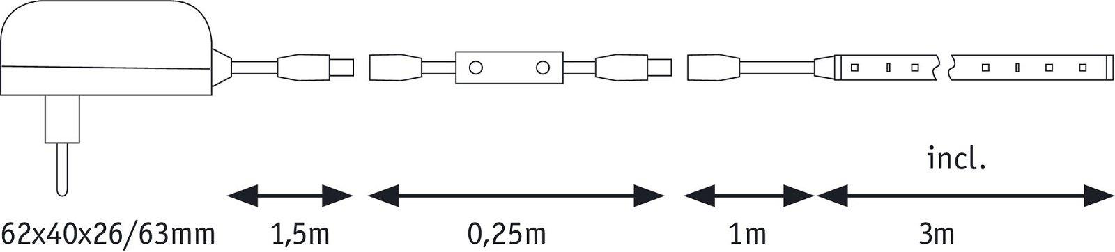FlexLED LED Strip 3D 3m 8,0W 960lm 3000K 12VA