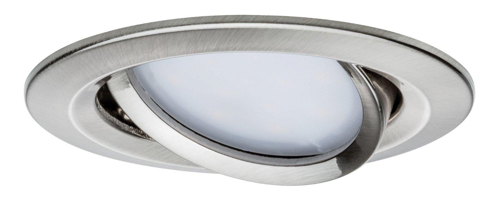LED Einbauleuchte Nova Plus Coin Basisset schwenkbar rund 84mm 50° Coin 3x6,8W 3x425lm 230V 2700K Eisen gebürstet