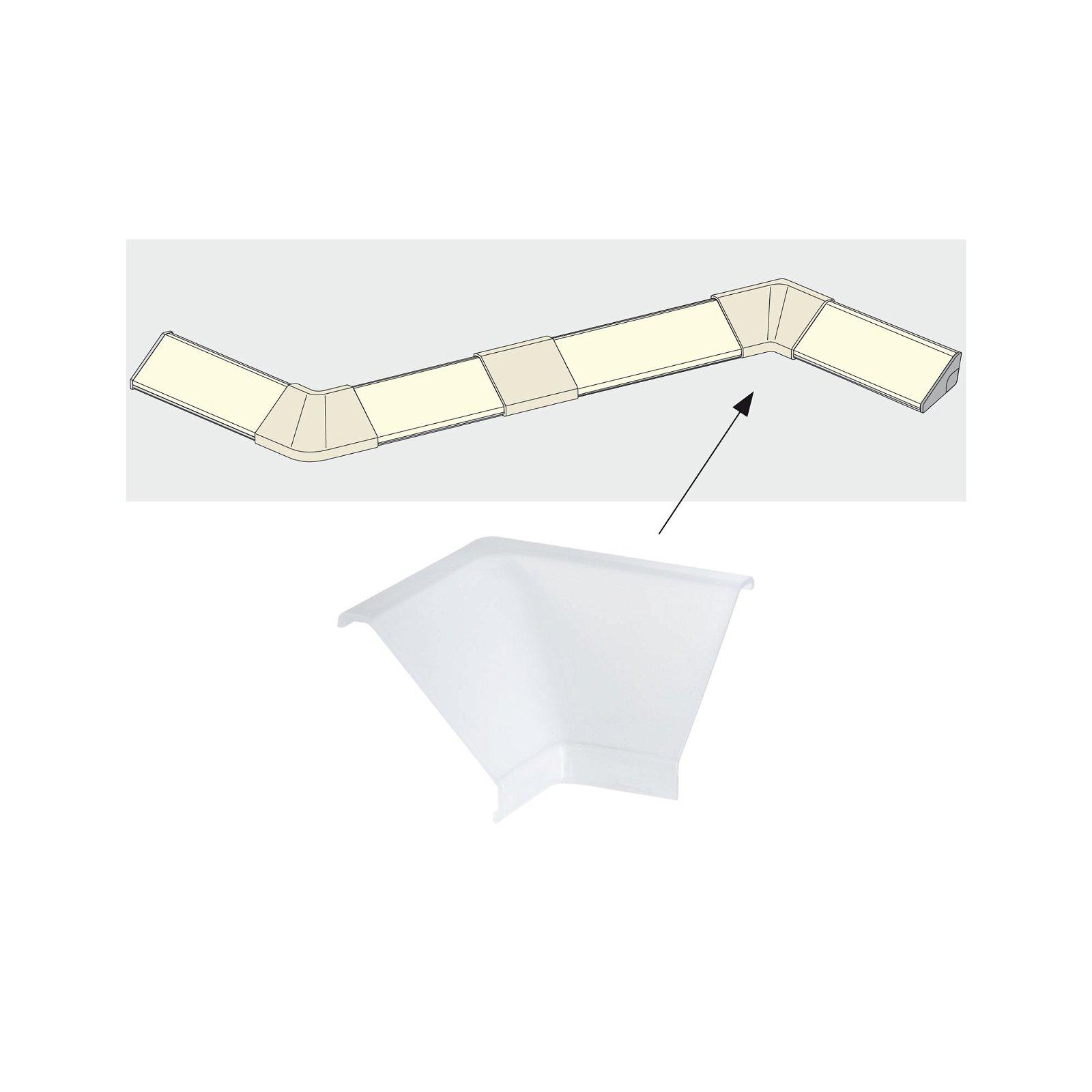 Profilé de strip LED Delta Corner – Pack de 2 Satiné
