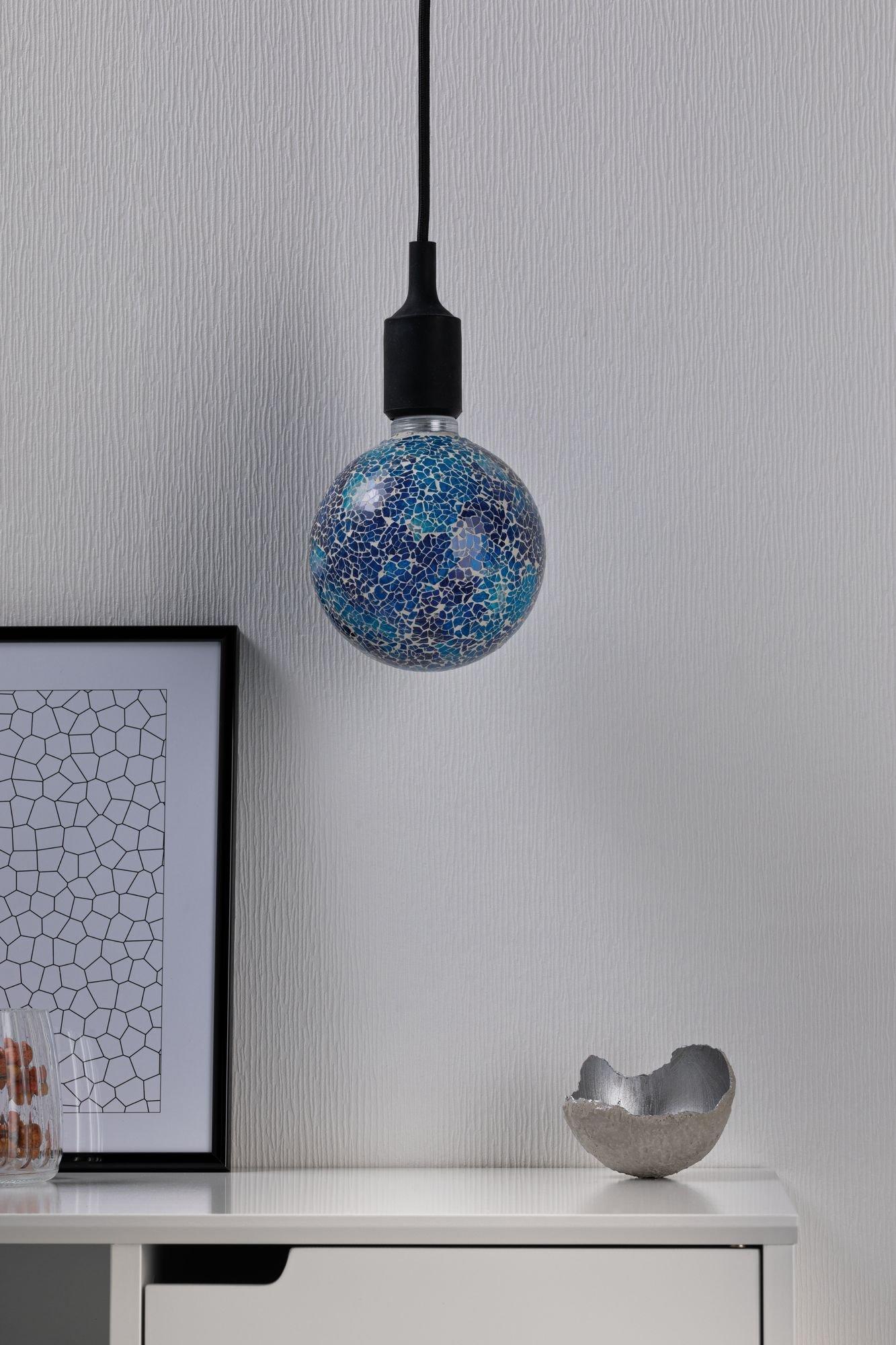 Miracle Mosaic Edition LED Globe E27 230V 470lm 5W 2700K Blau