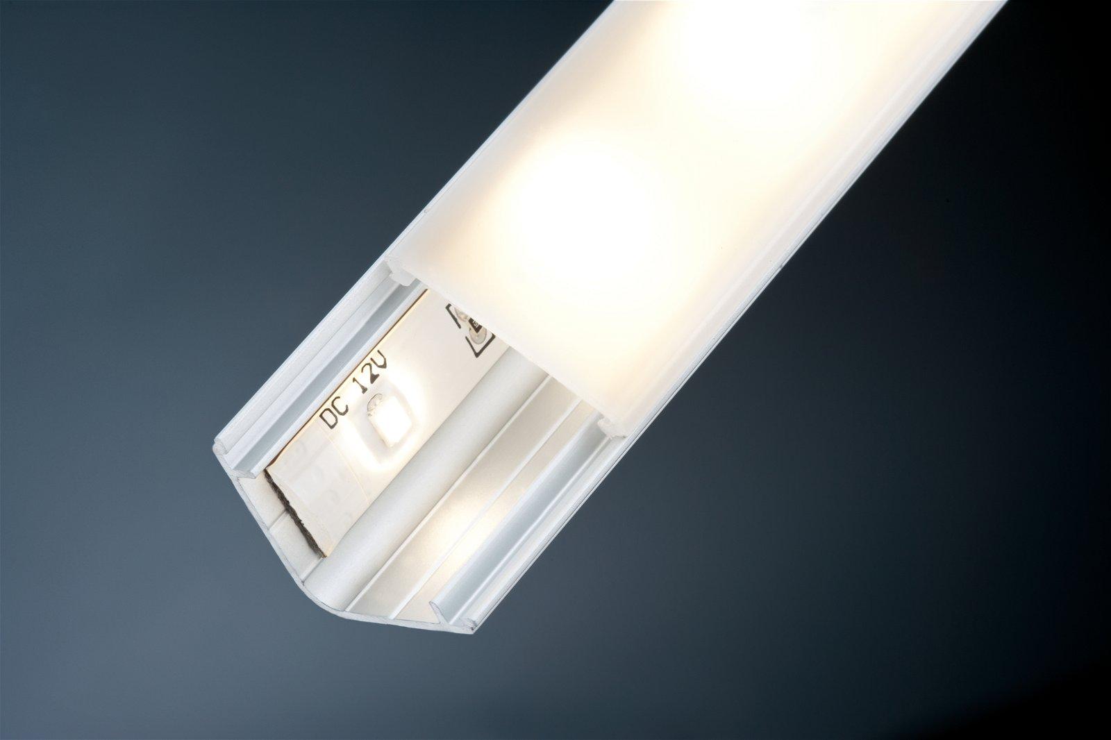 LED Strip profiel Delta 1m Alu/Satijn