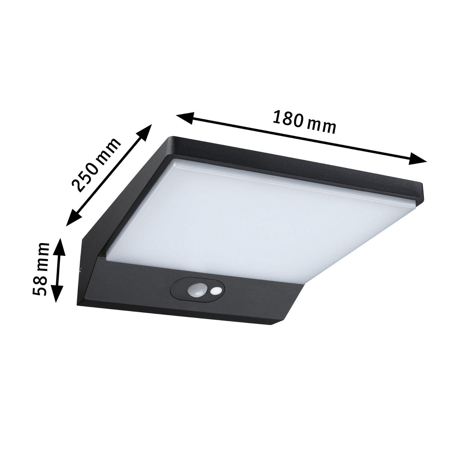 Solar LED Außenwandleuchte Ronas Bewegungsmelder IP44 3000K 550lm Dunkelgrau