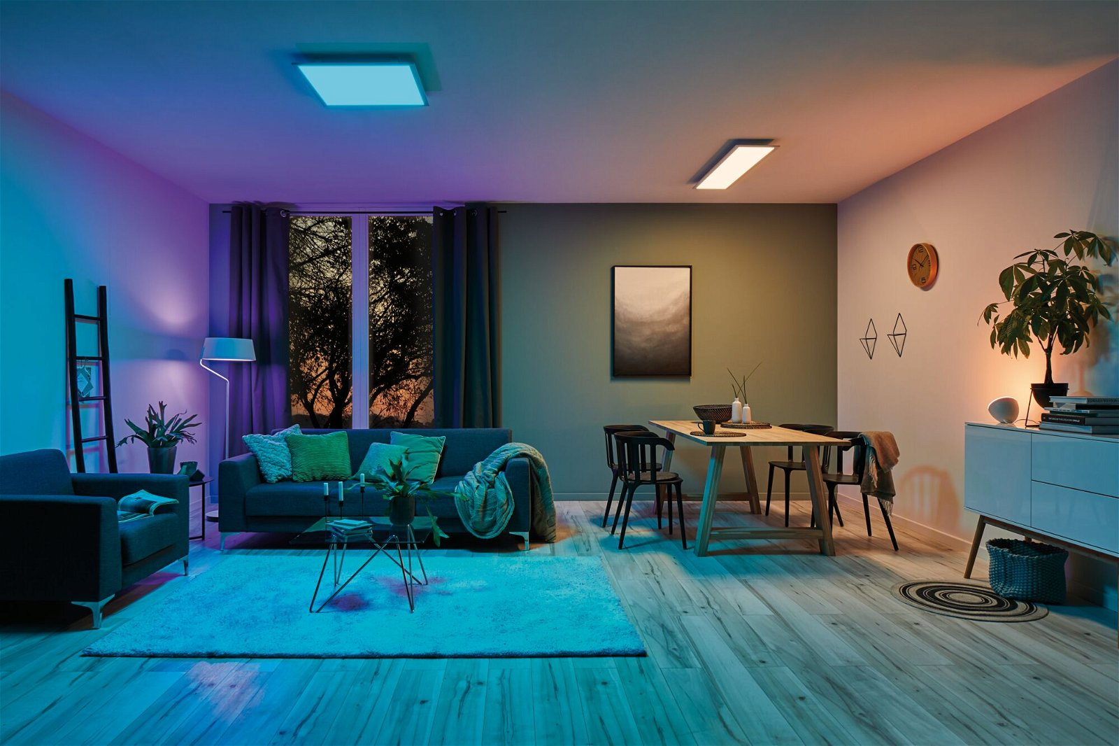 LED Panel Smart Home Zigbee Amaris eckig 1.195x295mm RGBW Weiß matt