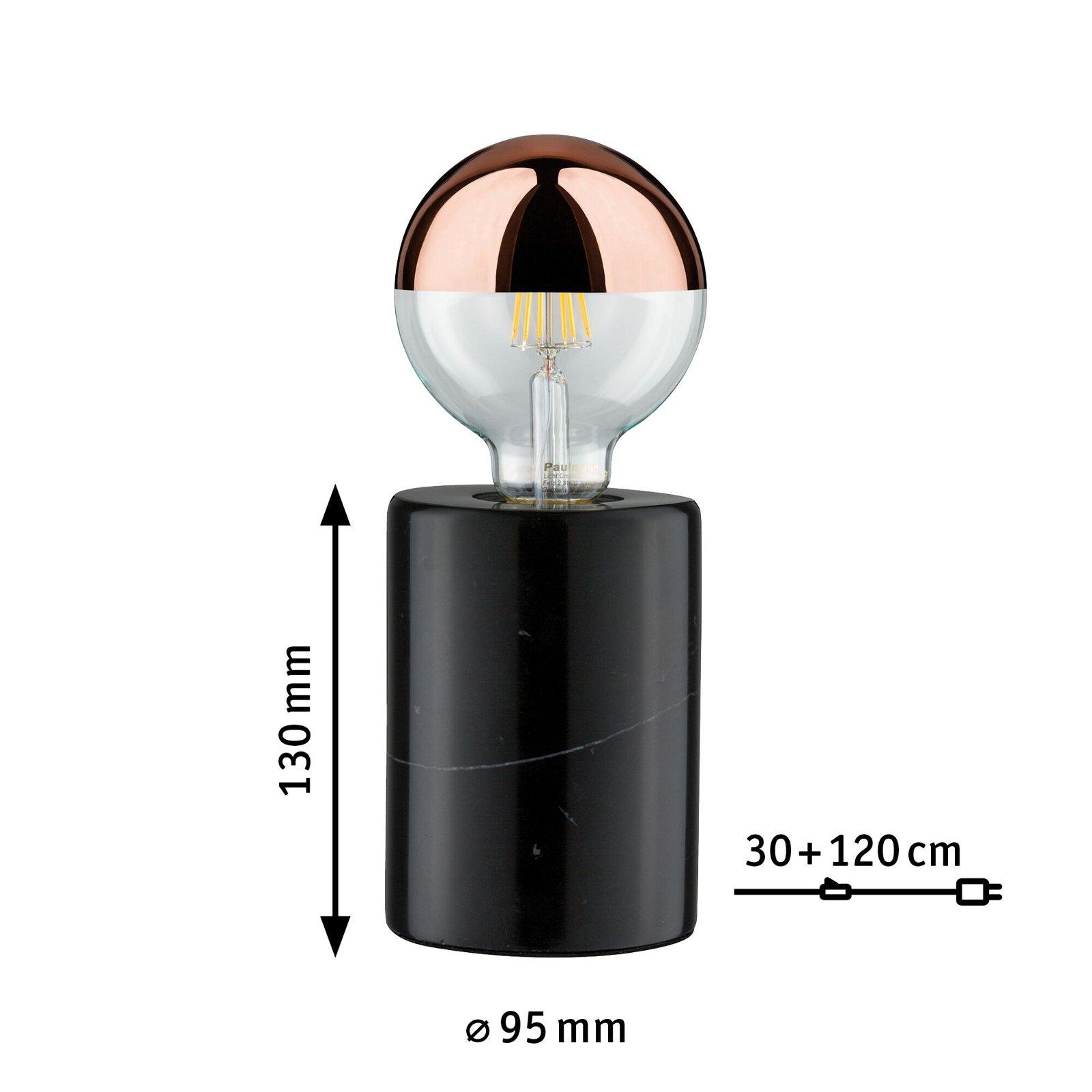 Neordic Tischleuchte Nordin E27 max. 20W Schwarz Marmor