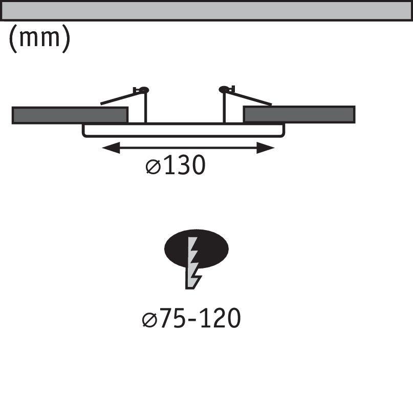 Inbouwadapter 130mm Staal geborsteld
