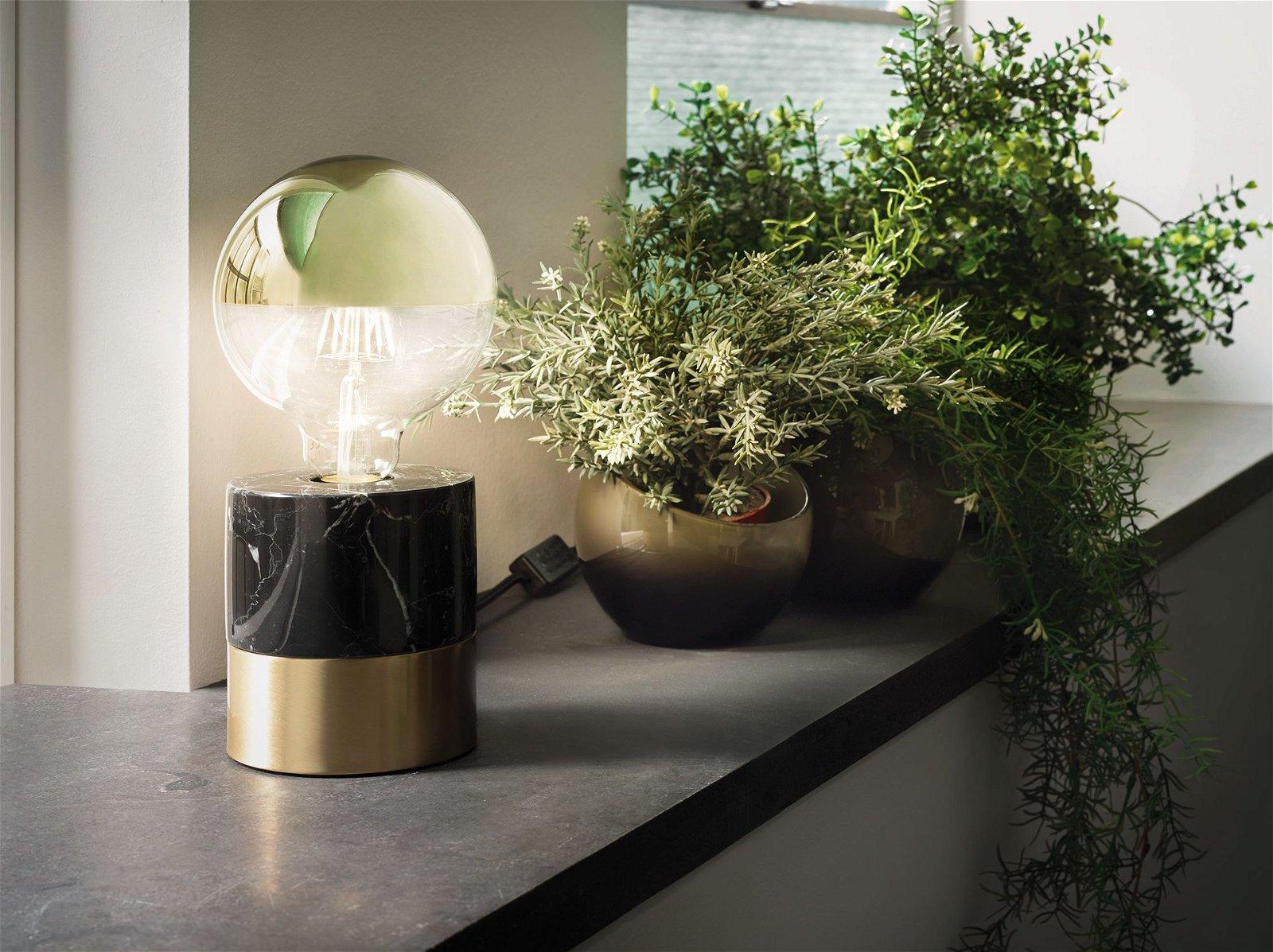 Modern Classic Edition LED Globe Kopspiegel E27 230V 600lm 6,5W 2700K Kopspiegel goud