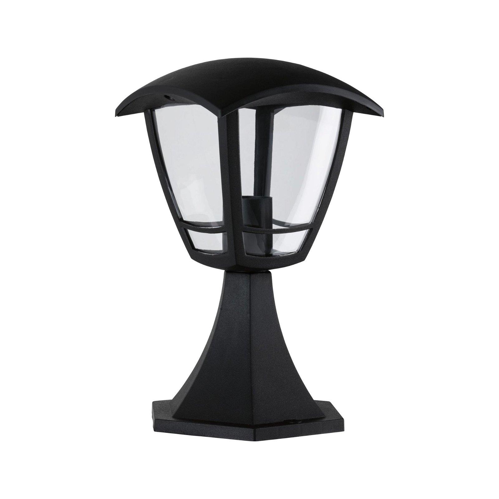 Bolderlamp Classic Curved IP44 280mm max. 12W 230V Helder/Zwart Kunststof