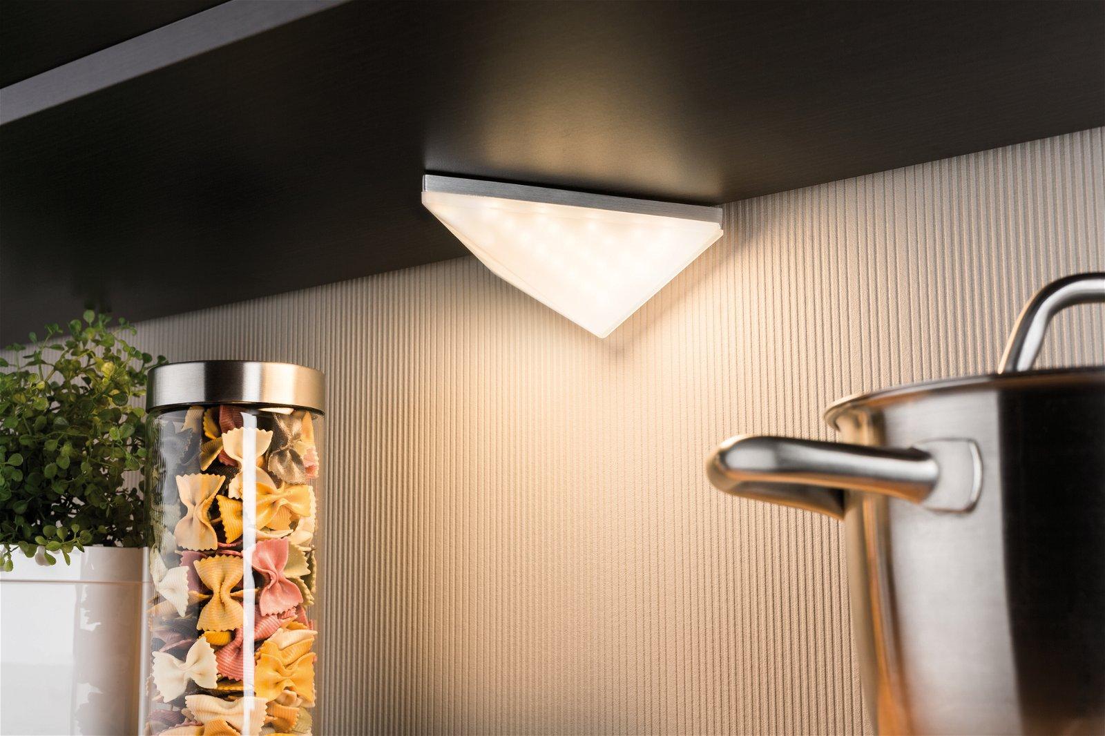 Meubelopbouwlamp LED Kite driehoekig set van 2 inclusief LED-module 2 x 6,2 W