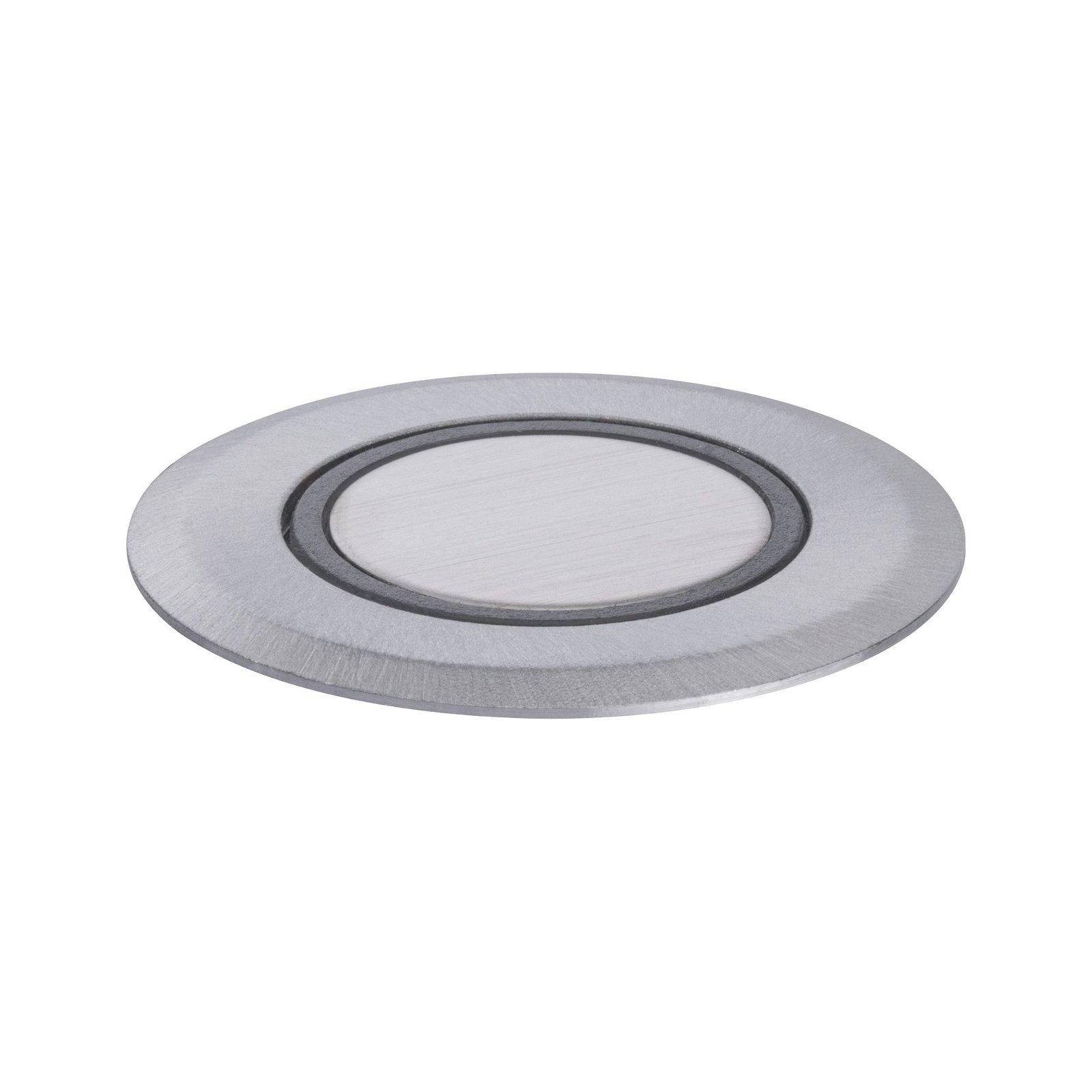 House LED Bodeneinbauleuchte IP65 rund 50mm 3000K 2W 210lm 230V Edelstahl gebürstet Edelstahl/Kunststoff