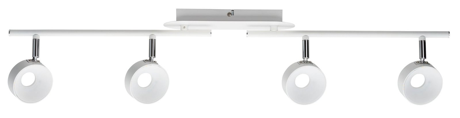 Deckenstrahler Funnel 3000K 4x540lm 230V 4x6W Weiß matt/Chrom