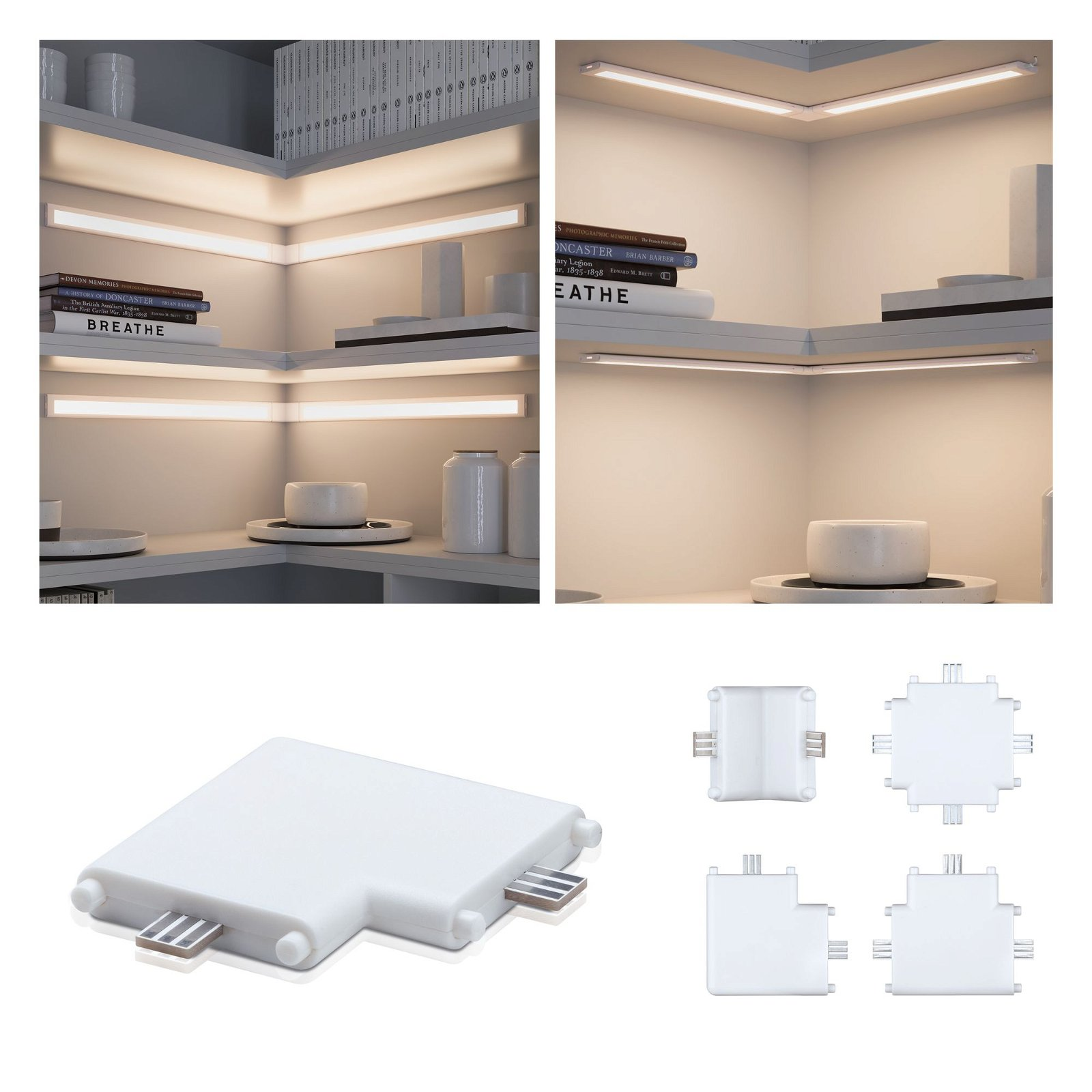 Clever Connect Verbinder Border 50x50mm Weiß matt
